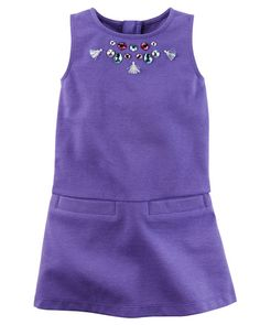 Toddler Girl Embellished Ponte Shift Dress from Carters.com. Shop clothing & accessories from a trusted name in kids, toddlers, and baby clothes.