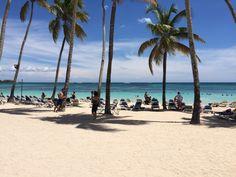 A beautiful view of the beach at La Romana, Dominican Republic. The hotel's name is Dreams La Romana Resort&Spa.