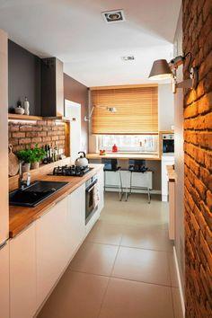 Zdjęcie nr 8 w galerii Przedświąteczne akcenty – Deccor… Home Decor Kitchen, Kitchen Interior, Kitchen Dining, Kitchen Cabinets, Brick Loft, Tiny Spaces, Interiores Design, Sweet Home, House Design