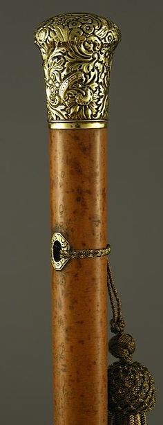 GOLD MILORD DATED 1838 WALKING STICK