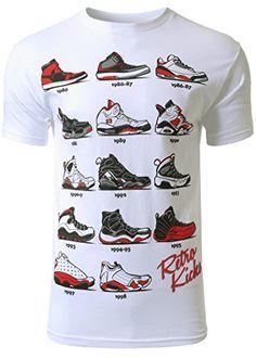 0a190e3234e5df Mens Hipster The Retro Kicks Jordan Running Print T-Shirt Comfy The Retro  Kicks Jordan Print T-Shirt Hipster Hip Hop Style With Any Pants! Machine  Wash Cold ...
