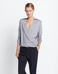 Wickelshirt grau online kaufen | Klarissa soft grey von someday Fashion