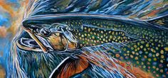 High Lakes Brook Trout, by Josh Udesen Fishing Photography, Art Photography, Bass Fishing Pictures, Cool Fish, Fish Art, Wildlife Art, Texture Art, Trout, Fly Fishing
