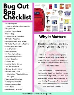 Bug Out Bag Checklist - Do You Know What to Pack for a Hurricane? - FREE Bug Out Bag Checklist – Know What to Pack for a Hurricane - Survival Life Hacks, Survival Prepping, Survival Skills, Survival Gear, Survival Quotes, Wilderness Survival, Doomsday Prepping, Camping Survival, Car Survival Kits