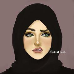 Girly M, Girly Pictures, Pictures To Draw, Sarra Art, Hijab Drawing, Islamic Cartoon, Anime Muslim, Hijab Cartoon, Islamic Girl