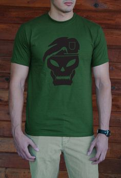 Scary Skull!! Throw this shirt on and walk out the door looking awesome. Try it on and it will soon become your favorite tee.