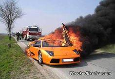Lamborghini Murcielago crashed in Austria