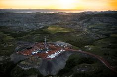 The photo above is an oil drilling rig seen in an aerial view in the early morning hours of July 2013 near Watford City, N. Country Bands, Drilling Rig, Oil Industry, Oil Rig, The Next Big Thing, Watford, New Energy, Camping Life, North Dakota