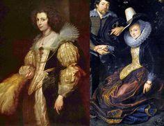 바로크시대로 넘아가는 후기 르네상스 시대에는 요란했던 메디치 칼라가 조금은 누그러든 듯 하다. 그러나 코르셋의 모양과 목선의 형태는 극도로 낮거나, 반대로 극도로 높아지는 형태를 보인다. 반 다이크와 루벤스의 작품이다.
