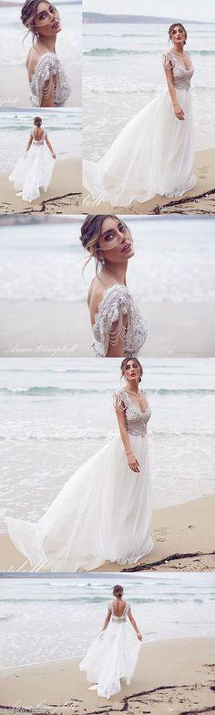 Wedding Dresses: White Ivory Beach Lace Chiffon Bridal Gown Wedding Dress Size 4 6 8 10 12 14 16+ -> BUY IT NOW ONLY: $127 on eBay!