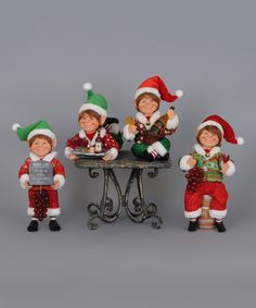 Look at this Karen Didion Four-Piece Wine Elf Figurine Set on #zulily today!