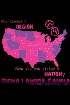My sisterhood is thriving, yup NATIONALLY! A little bit of an outdated map, adding South Carolina to the map it would be perfect :)