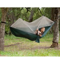 Netted tent / hammock OH YEAH...I WONDER IF I COULD GET ONE WITH A RAIN COVER....DON'T YOU KNOW IT WOULD SOUNDS WONDERFUL DURING A LIGHT, STEADY RAIN.