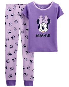 Disney Pjs, Disney Outfits, Kids Outfits, Disney Clothes, Disney Stuff, Minnie Mouse Baby Room, Minnie Mouse Stuff, Azul Real, Cotton Pjs