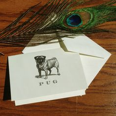 New to VeronicaFoleyDesign on Etsy: Fawn Pug Personalized Stationery great gift for dog lovers custom stationery set 100% Cotton Savoy (18.00 USD)