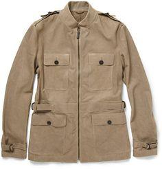 8da1140bfe03 Bottega Veneta Washed Nappa Leather Safari Jacket Safari Jacket
