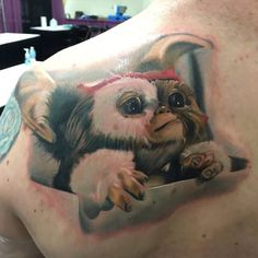 Gizmo Gremlins Tattoo by Pony Lawson