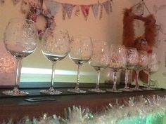 Personal wine glasses for my gorgeous girlies