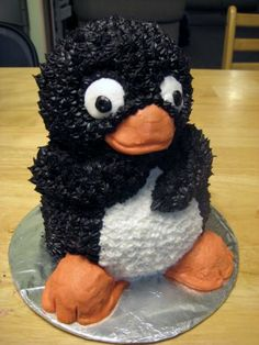 Penguin Cake! I need one wendy and alicia lol. ~kyla ah haha we should do my 23rd bday in penguins lol. its so cute