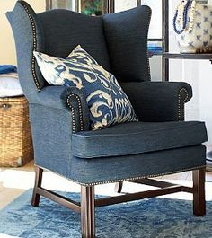 For Library- add rockers? matching ottoman; Thatcher Wingback Chair- Pottey Barn