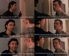Haha love this scene with George and Mitchell (being human UK) it's so funny.