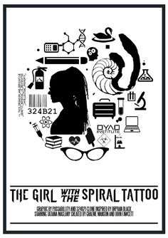 "possabillity: ""Orphan Black Movie Poster collaboration with 324b21-clone ↳Movie: The Girl with the Dragon Tattoo [x] """