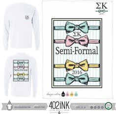 #402ink #402style Custom Apparel, Greek T-shirts, Sorority T-shirts, Fraternity T-shirts, Greek Tanks, Custom Greek Apparel, Screen printed apparel, embroidered apparel, Sorority, SK, Sigma Kappa, Semi-Formal