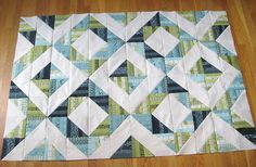 Neptune HST Quilt by teaginny - made from honey bun strips!    I have a Neptune Honey Bun I need to use!