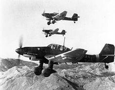 "German Junkers Ju 87 ""Stuka"" ground attack fighter of WWII."