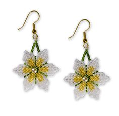Double Sided Daisy Style Earrings, Sova Enterprises