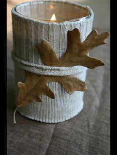 Winter Candle idea....sweet