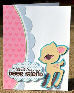 Thoughts of Scrapbooking: Deer friend Joy's Life card  http://joyslife.com/products/products.html