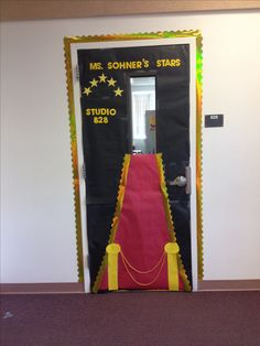 Star themed classroom door!