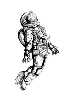 tattoos in spanish words & tattoos in spanish . tattoos in spanish meaningful . tattoos in spanish words . tattoos in spanish for women Astronaut Tattoo, Astronaut Drawing, Astronaut Illustration, Space Drawings, Art Drawings Sketches, Tattoo Sketches, Tattoo Drawings, Weird Drawings, Unalome Tattoo