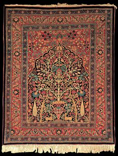 Persian Tabriz Vase rug, Azerbaijan, State Museum of Azerbaijan Carpet and Applied Art
