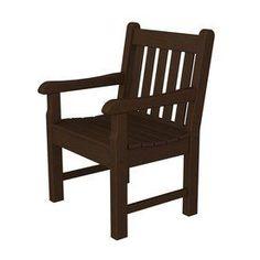 Polywood Rockford Mahogany Plastic Patio Conversation Chair Rkb24ma