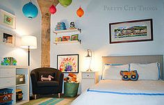 Sebastian's colorful big boy room