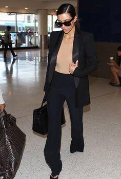 "kimkardashianfashionstyle: "" May 4, 2014 - Kim Kardashian at LAX Airport. """