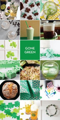 gone green: links to recipes for st. patrick's day desserts, drinks, and decorations