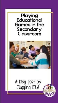 Some people think that playing educational games in the classroom is only for elementary school. Some people think that with all the man. Middle School Writing, Middle School English, School Resources, Teacher Resources, Classroom Resources, Fun Classroom Activities, Classroom Organization, High School Literature, Educational Games
