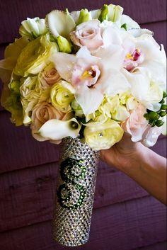 Custom Crystal Bridal Bouquet Handle