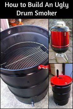 Are you in need of a smoker? This is a very easy project to make and you'll have your very own ugly drum smoker in no time! 55 Gallon Drum Smoker, Ugly Drum Smoker, 55 Gallon Steel Drum, Uds Smoker, Barrel Smoker, Backyard Smokers, Outdoor Smoker, Homemade Smoker Plans, Smoker Recipes