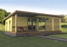 Проект одноэтажного дома 62,5 кв.м. из SIP панелей