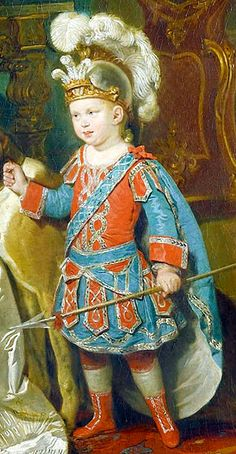 Ned's Roman Centurion costume looked similar to this. The costume and a hobby horse were gifts from his Uncle Tony—Sir Antony Templestowe. [Detail from portrait of Queen Charlotte with her two sons by Zoffany] SALT REDUX
