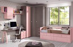 Teen Bedroom Designs, Bedroom Bed Design, Kids Bedroom Sets, Closet Designs, Girls Bedroom, Bedroom Decor, Small Room Design, Dream Rooms, Home Decor Kitchen