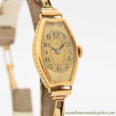 1939 Vintage Rolex Ladies 18K Yellow Gold Watch