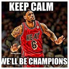 Lebron James... Tonite we will be the champions!!!! Hoy ellos van a hacer los campiones!!!!!!!
