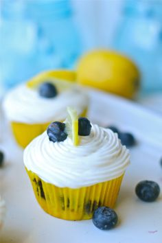 "Gluten free lemon blueberry cupcakes--made with ""Zero"" (natural organic sugar substitute) and Trader Joe's gluten free flour mixture!"