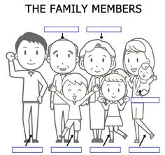esl coloring pages family traditions - photo#33