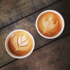 Houndstooth Coffee in Austin, TX Cappuccinos!